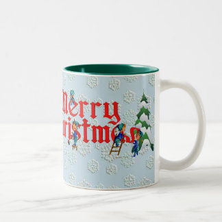 MERRY CHRISTMAS CUP by SHARON SHARPE