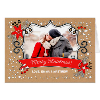 Merry Christmas. Custom Christmas Photo Cards