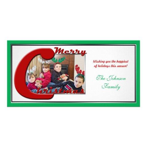 """""""Merry Christmas"""" Custom Family Photo Card"""