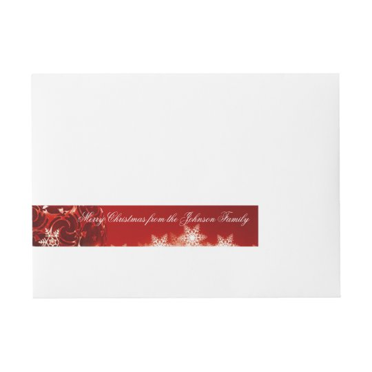 Merry Christmas Custom Message Wrap Around Labels