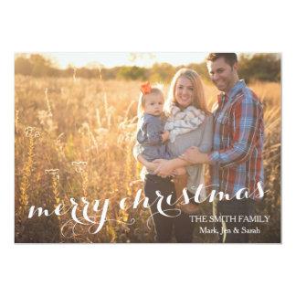 Merry Christmas Custom Photo Card