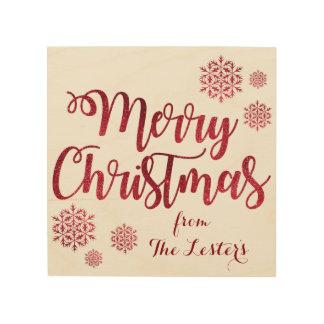 "Merry Christmas Customizable 8""x8"" Wood Wall Art"