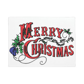 Merry Christmas Customizable Doormat