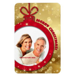 Merry Christmas Customizable Photo Magnets Vinyl Magnet