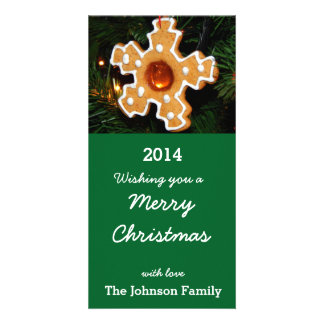 merry christmas customized photo card