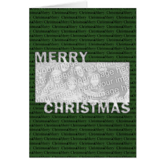 Merry Christmas Cut Out Photo Frame Green Cards