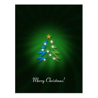 Merry Christmas! - Cute Christmas tree Post Cards