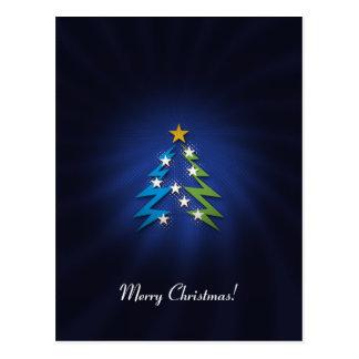 Merry Christmas! - Cute Christmas tree Post Card