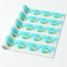 Merry Christmas Cute Dinosaurs Wrapping Paper