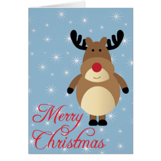 Merry Christmas Cute Reindeer Card