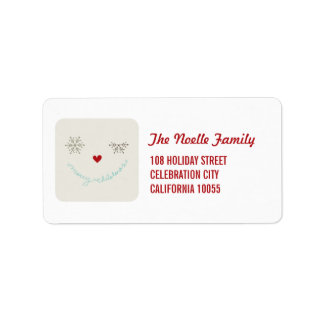 Merry Christmas Cute Smiley Holiday Address Labels