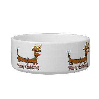 Merry Christmas Dachshund Bowl