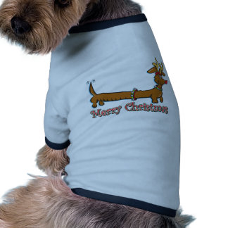 Merry Christmas Dachshund Dog Tee Shirt