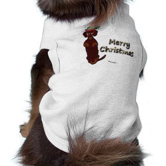 Merry Christmas Dachshund Sidney Pet Sweater Sleeveless Dog Shirt