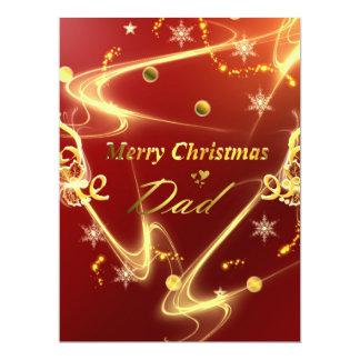 merry christmas dad 17 cm x 22 cm invitation card