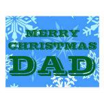 Merry Christmas Dad Postcard