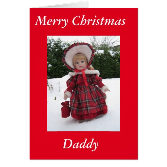 Merry christmas, daddy card