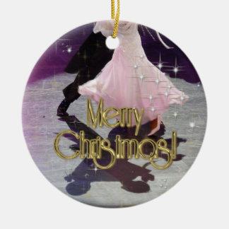 Merry Christmas Dancers Christmas Ornament