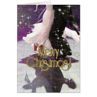 Merry Christmas Dancers PERSONALIZED Card