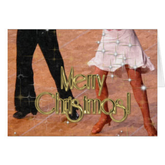 Merry Christmas Dancers PERSONALIZED Cards