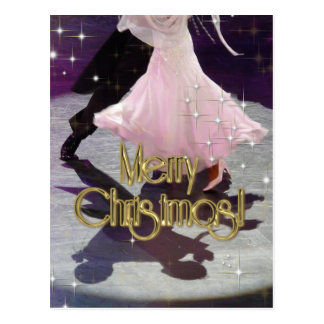 Merry Christmas Dancers Post Cards