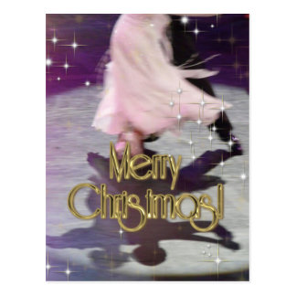 Merry Christmas Dancers Postcards