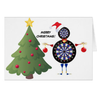 Merry Christmas Dart Player Card