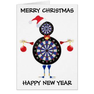 Merry Christmas Darts Player Greeting Card
