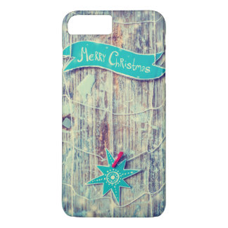 Merry Christmas Decoration Star Wooden Texture iPhone 8 Plus/7 Plus Case