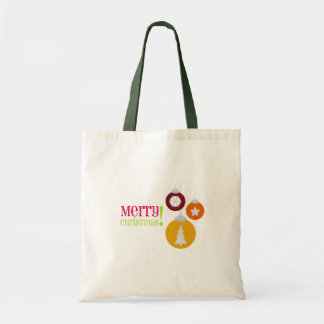 Merry Christmas Decorations Tote Bags