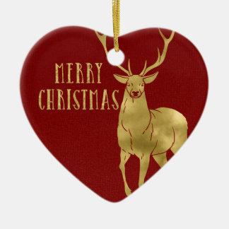 Merry Christmas Deer & Photo Christmas Ornament
