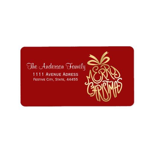 Merry Christmas design Label