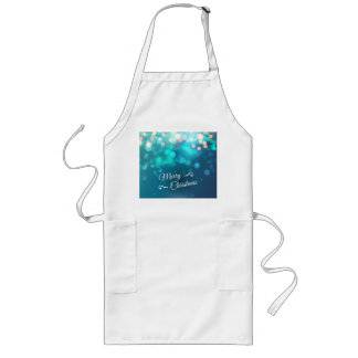 Merry Christmas design with sparkles Long Apron