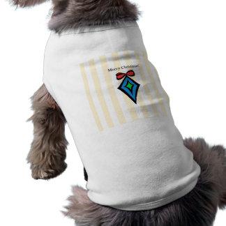 Merry Christmas Diamond Doggie Tank Top Yellow Sleeveless Dog Shirt