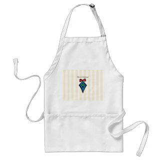 Merry Christmas Diamond Ornament Apron Yellow