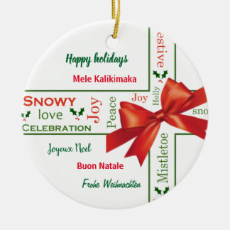 Merry Christmas different languages Christmas Ornament