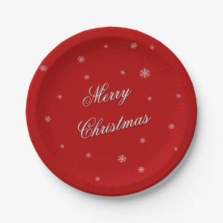 Merry Christmas dinner paper plate 7 Inch Paper Plate