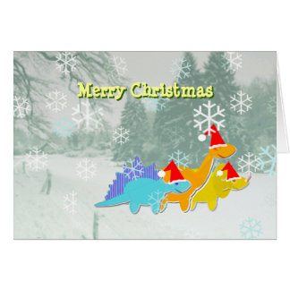 Merry Christmas Dinosaurs Card