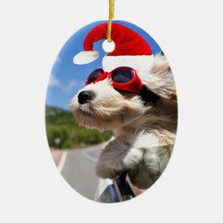 Merry Christmas dog Christmas Ornament