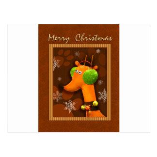 Merry Christmas Dog Postcard
