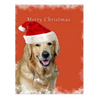 Merry Christmas Doggy Postcard
