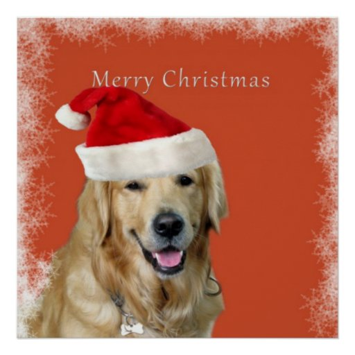 Merry Christmas Doggy Poster