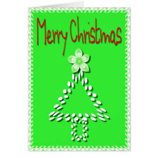 Merry Christmas Dot Tree Card