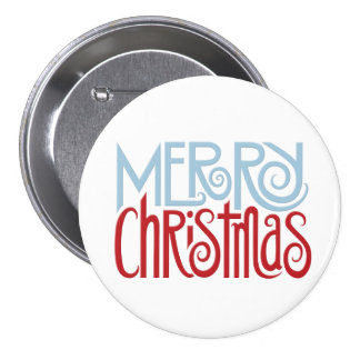 Merry Christmas dusk blue Button
