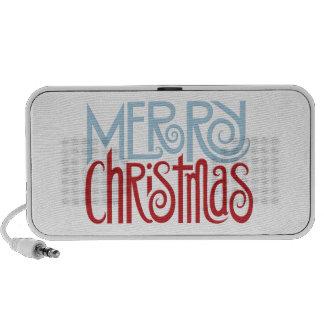 Merry Christmas dusk blue Doodle Speakers