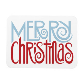 Merry Christmas dusk blue Premium Magnet