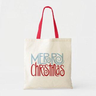 Merry Christmas dusk blue Tote Bag