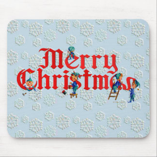 MERRY CHRISTMAS ELF PAD by SHARON SHARPE Mouse Mat