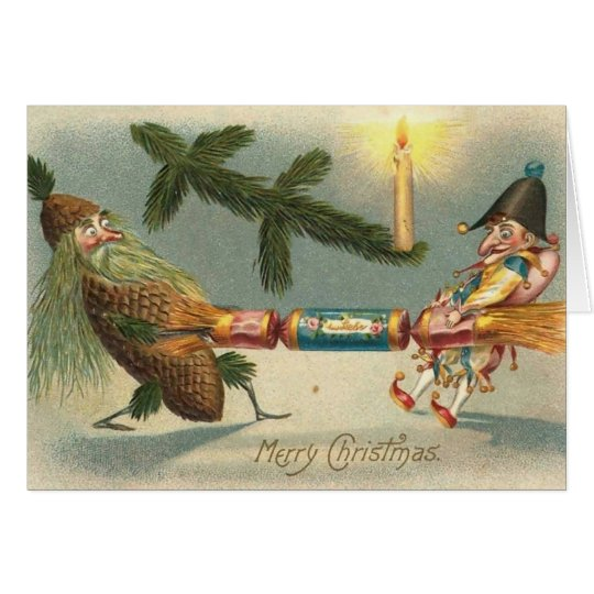 Merry Christmas Elves Playing Card
