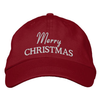 Merry Christmas Embroidered Baseball Cap Hat